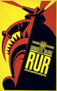 1939 Poster from the Karel Capek play, R.U.R.