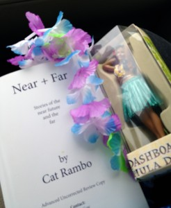 Picture of the advance reading copy of Cat Rambo's Near+Far