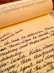 Picture of a handwritten page