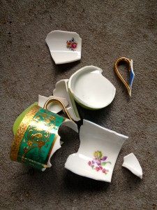 Picture of broken cups