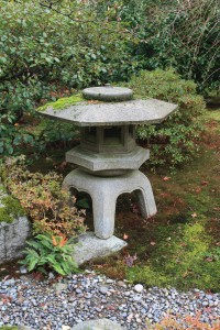 Picture of a stone lantern.