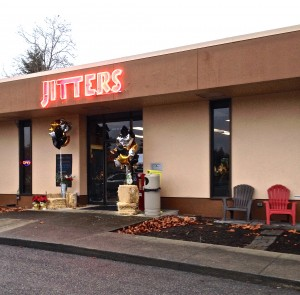 Exterior of the Redmond Jitters Coffee Shop