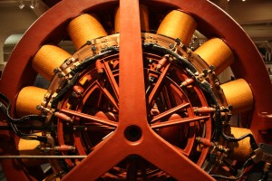 Photo of mechanical wheel, taken at the Henry Ford Museum in Detroit.