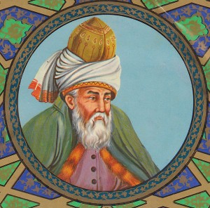 Picture of 13th century ecstatic poet Rumi, illustrating blog post about his work by speculative fiction writer Cat Rambo.