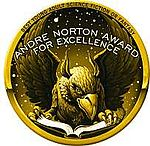 Logo for the Andre Norton Award for Excellence.