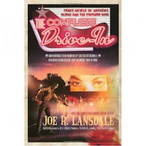 Cover of The Complete Drive-In by Joe R. Lansdale, accompanies blog post reviewing the book by speculative fiction writer Cat Rambo.