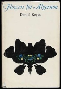 Cover of Flowers for Algernon, a science fiction novel by Daniel Keyes.