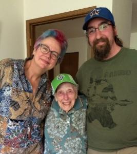 Photo of Cat, Millie, and Wayne Rambo.