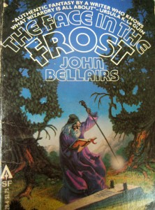 Cover of fantasy novel The Face in the Frost by John Bellairs.