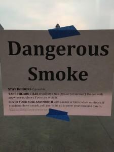 Dangerous smoke!