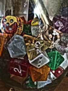 picture of polyhedral dice