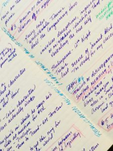 Image of handwritten notes