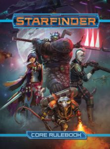 Cover of the Starfinder science fiction roleplaying game