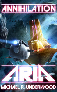 Cover of science fiction novel ARIA by Underwood.