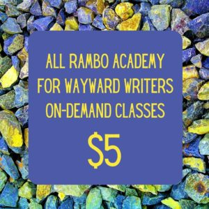 All on-demand online writing classes are currently $5 off through January 1, 2021